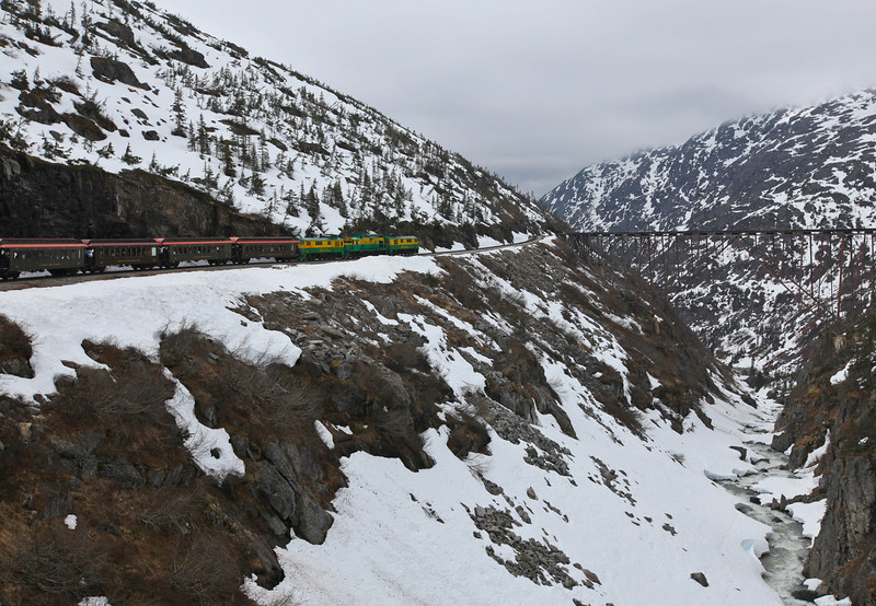 view from White Pass & Yukon Route Railroad
