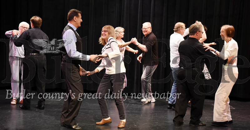 Harold Aughton/Butler Eagle: Residents of St. Barnabas dance with members of the Pittsburgh Ballroom Dancers, Mon., NOv. 25, 2019.