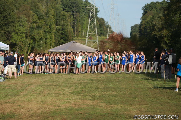 VARSITY GIRLS CROSS COUNTRY AT KEELEY PARK  10-04-2018