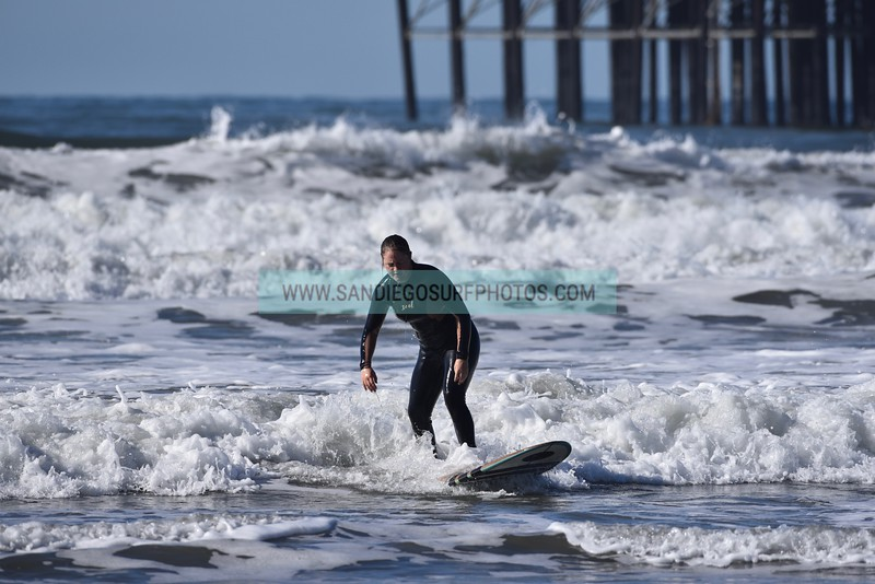 Surf Phots from Oceanside Pier (south side) on 12/02/18. Daily professional surf photography at your local beach in Southern California