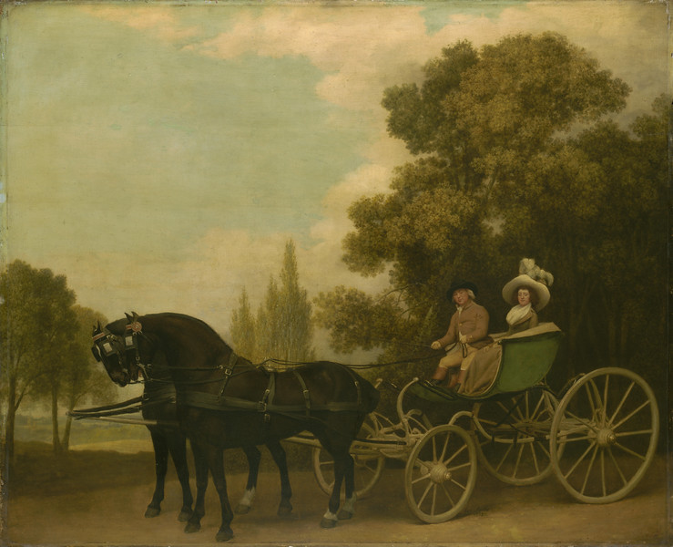 A Gentleman driving a Lady in a Phaeton