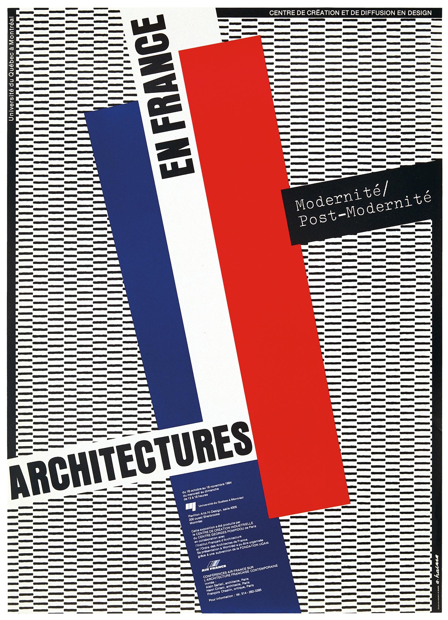 1984 - Exposition - Architecture en France Modernité Post-Modernité ©Alfred Halasa