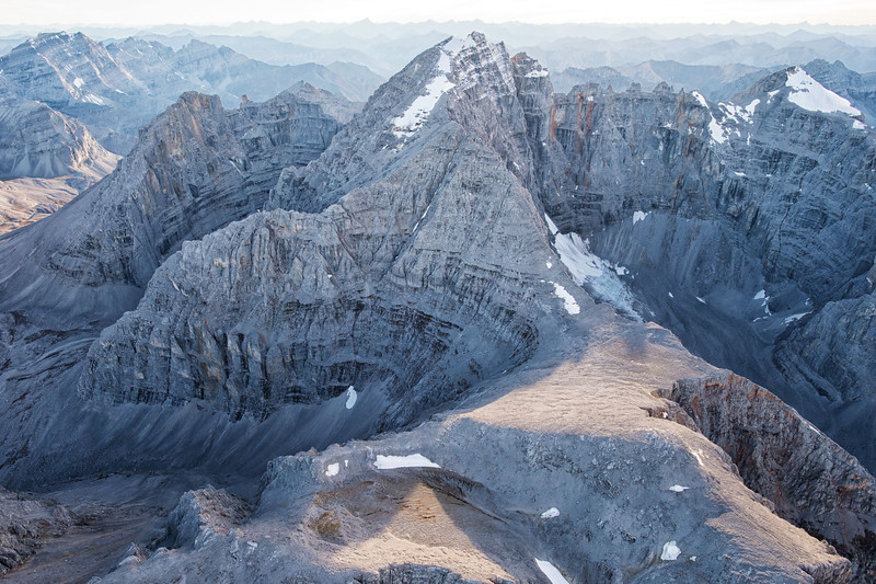 Aerial scenic images of Mount MacDonald in the Peel River, one of the largest wilderness areas in the Yukon.