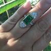 4.05ct Emerald and Old European Cut Diamond Ring 10
