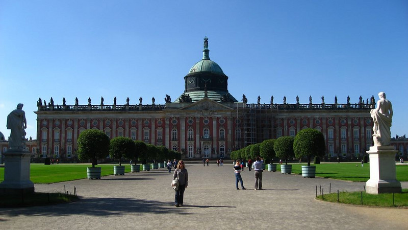 The largest palace in the gardens