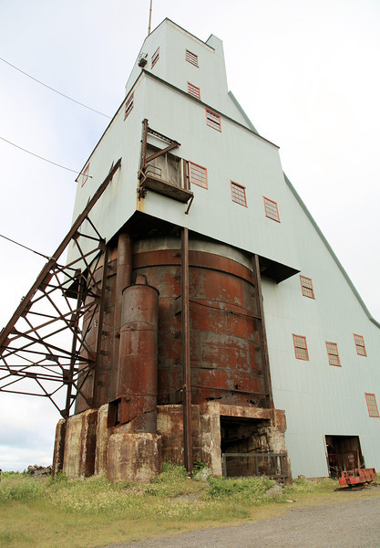 We visit the Quincy Copper Mine.  This is the Shaft-house.
