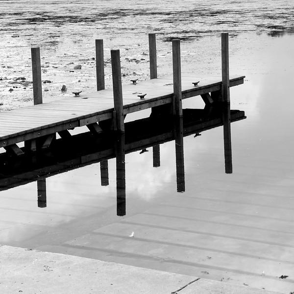 Dock reflection black and white square janna bissett.jpg