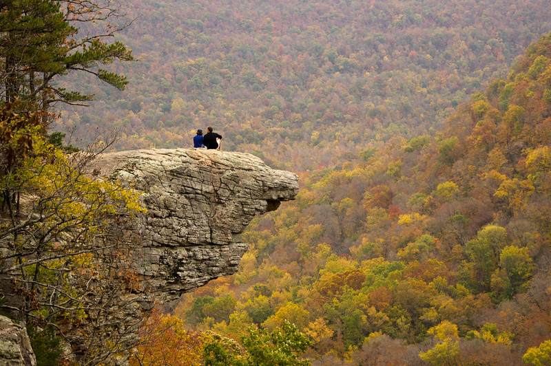 Whitaker Point on Hawksbill Crag Trail in the Ozarks