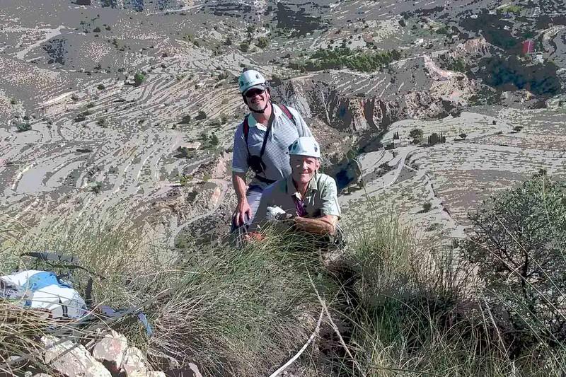 On the summit of Figuerets Via Ferrata