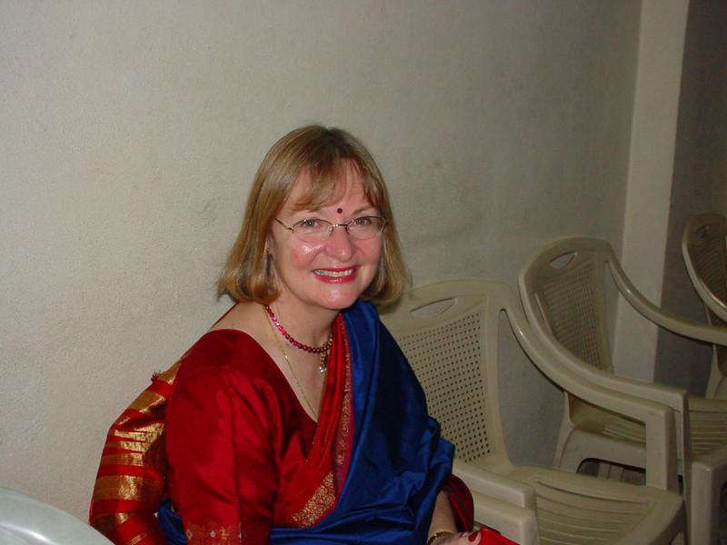 Judette in a sari!