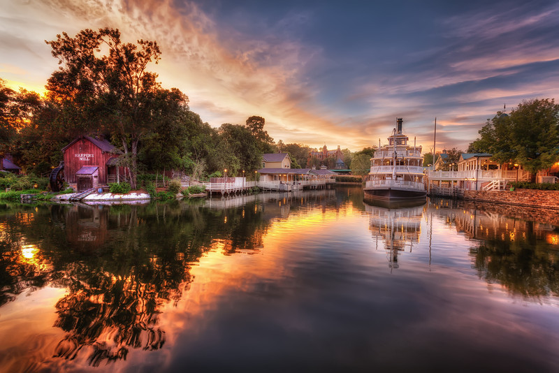 Sunset on the Liberty Belle