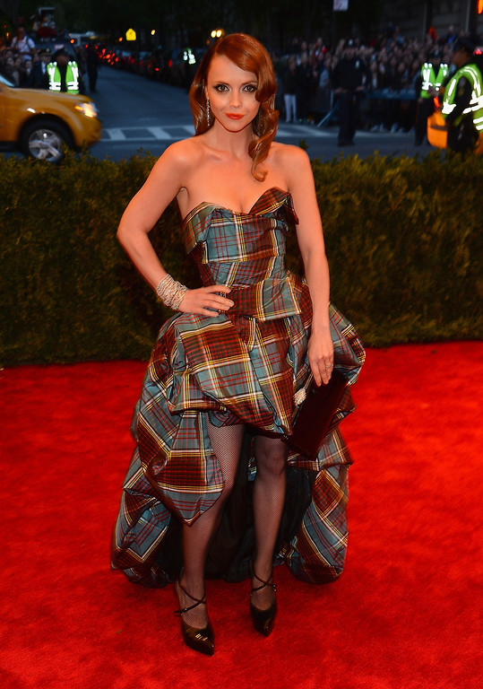 """. Actress Christina Ricci attends the Costume Institute Gala for the \""""PUNK: Chaos to Couture\"""" exhibition at the Metropolitan Museum of Art on May 6, 2013 in New York City.  (Photo by Larry Busacca/Getty Images)"""