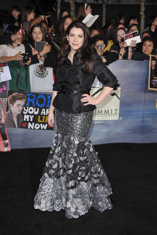 ". Stephenie Meyer attends the world premiere of ""The Twilight Saga: Breaking Dawn Part II\"" at the Nokia Theatre on Monday, Nov. 12, 2012, in Los Angeles. (Photo by John Shearer/Invision/AP)"