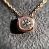 .77ct Old Mine Cut Rose Gold Bezel Pendant 10