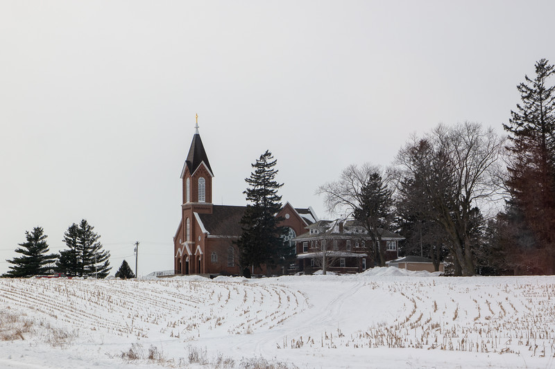 Wisconsin Church Winter