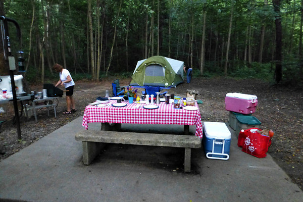 We arrived Friday afternoon ahead of the kids and set up camp