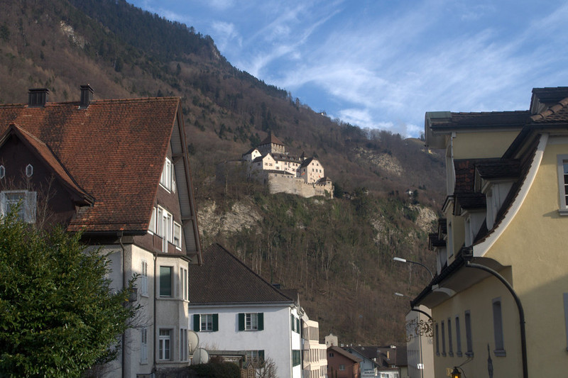 Liechtenstein Vaduz Castle from below.jpg