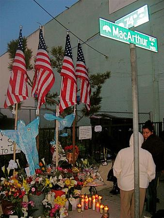 Vigil for Four Oakland Police Officers