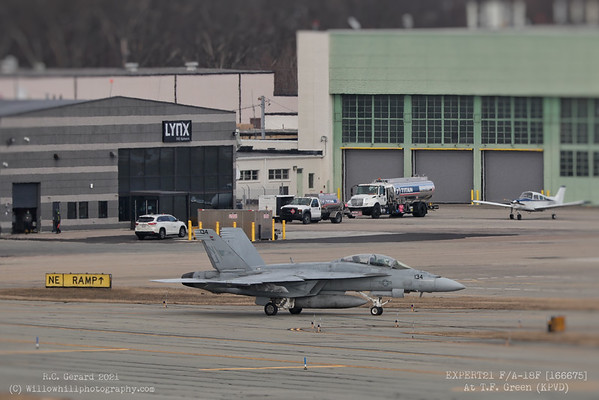 EXPERT21 F/A-18F at KPVD 3/4/21