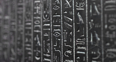 Hieroglyphics at the British Museum. London