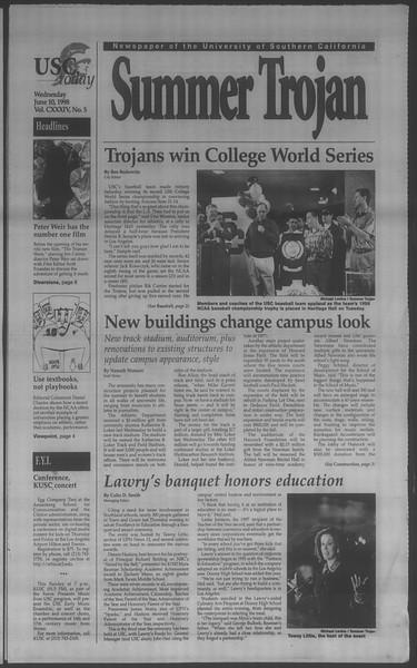 Summer Trojan, Vol. 134, No. 5, June 10, 1998