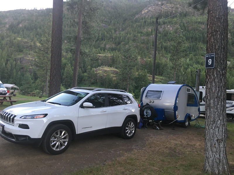 Our campsite in Idaho on the way to Yellowstone National Park
