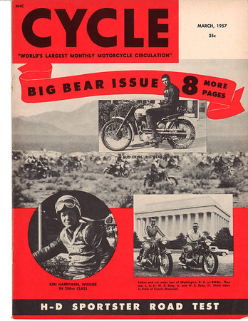 1957 March Cycle Magazine