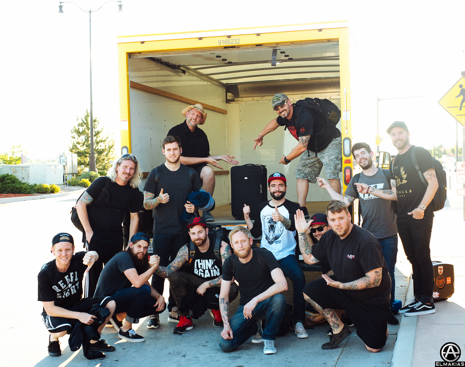 A Day To Remember and crew at Loudwire Festival in Grand Junction, CO