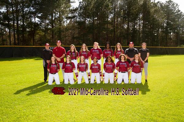 2021 Mid Carolina varsity softball