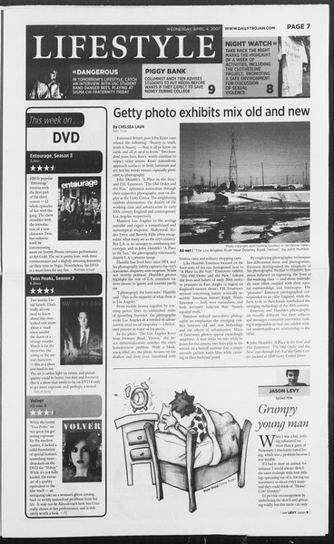 Daily Trojan, Vol. 160, No. 51, April 04, 2007