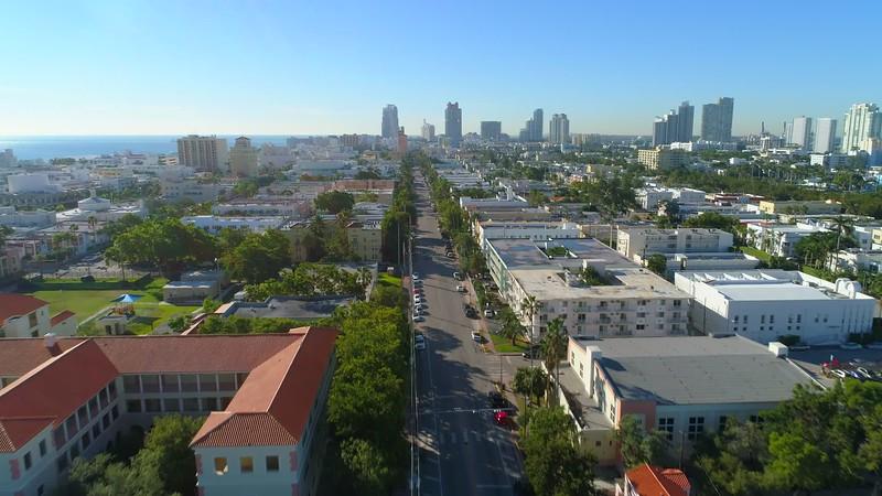 Stock video aeria lascent Miami Beach 4k 24p