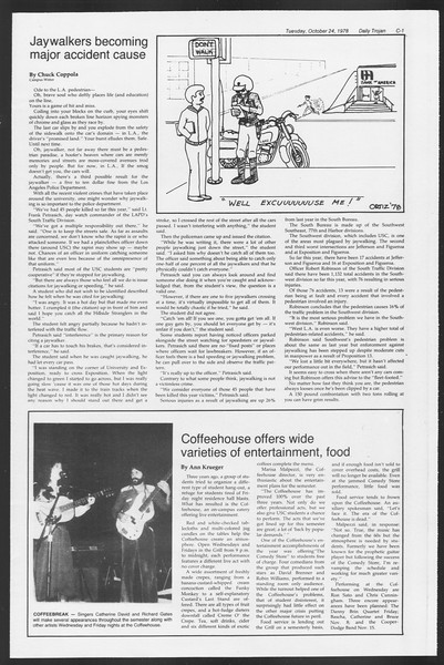 Daily Trojan, Vol. 75, No. 25, October 24, 1978
