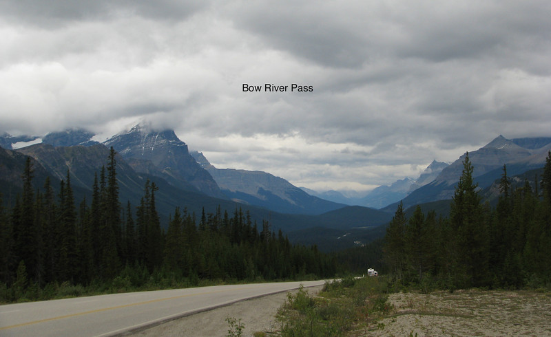 Leaving lower Banff and Lake Louise area going north.