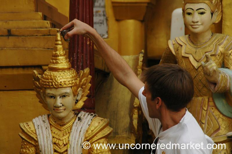 Shwedagon Paya Statue - Rangoon, Burma (Yangon, Myanmar)