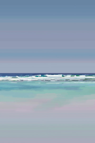 Calm Surf - Digital Painting