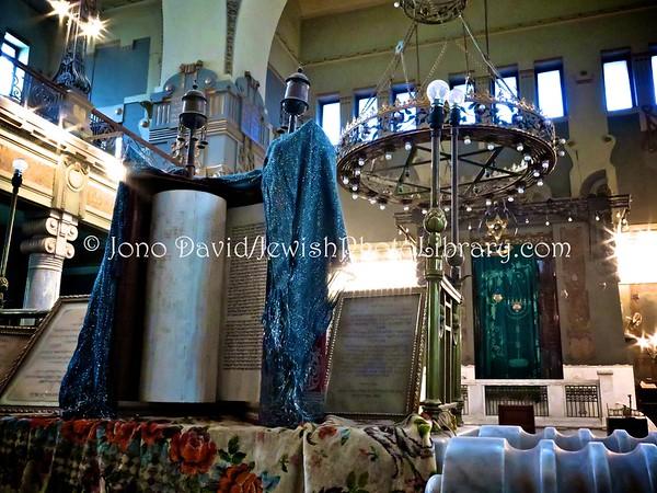 EGYPT, Cairo. Sha'ar Hashamayim Synagogue (aka Temple Ismailia and the Adly Street Synagogue) (2.2016)