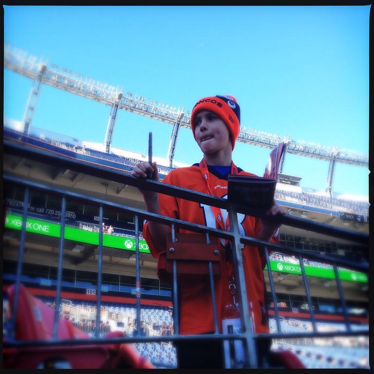 . Brandon Ballarini, 10, from Chicago. Photo by Joe Amon.
