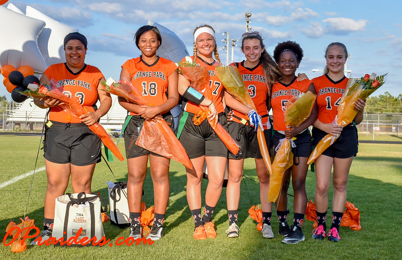 Flag Football Senior Night 2017