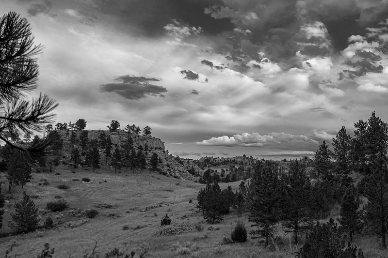 Hysham, MT Clouds (B-W)