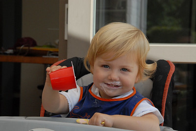 Maybel eating ice cream