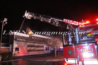 Deer Park F.D. Working Fire 1510 Deer Park Ave. (Mc Donald's) 3-31-16