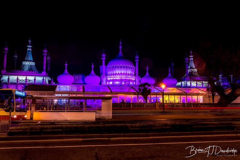 Brighton Pavilion all lit up
