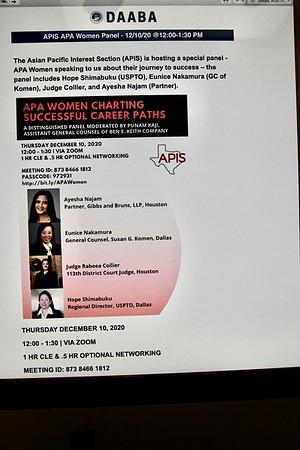 12-10-2020 APIS-APA Women Panel @ Zoom