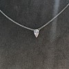 0.48ct 18kt White Gold Rose Cut Bezel Pendant 13