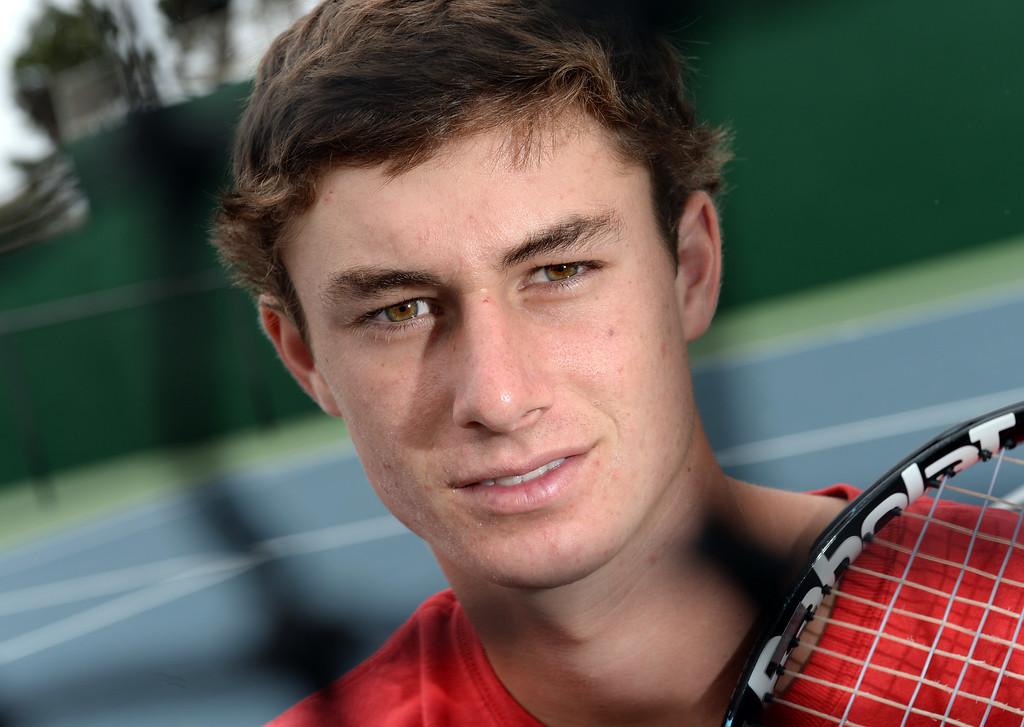 . Jake Douglas. Palos Verdes High School. Daily Breeze Boy\'s Tennis Player of the Year. Photo by Brad Graverson 6-7-13