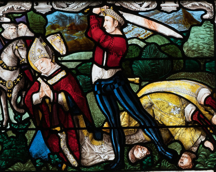 Bourges Cathedral, The Beheading of Saint-Denis