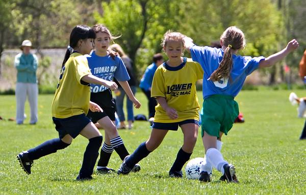 LMYA U11 Girls Soccer vs. St. Thomas More 06 May 07