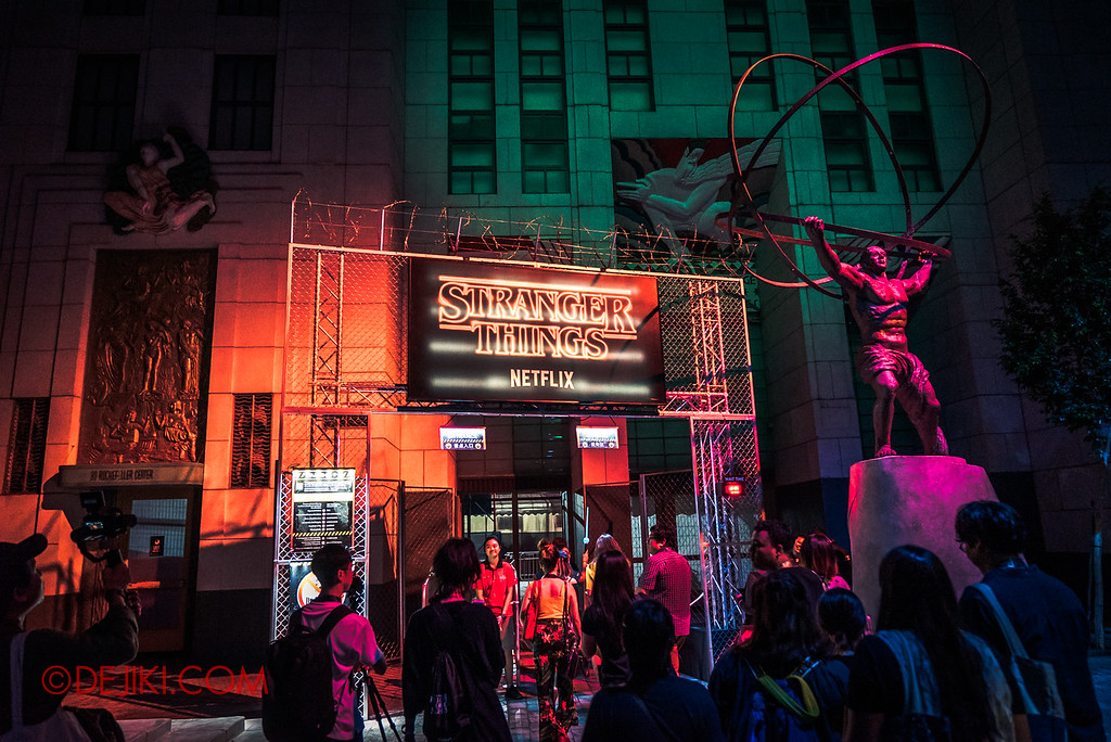 USS Halloween Horror Nights 8 Stranger Things haunted house maze entrance at USS New York