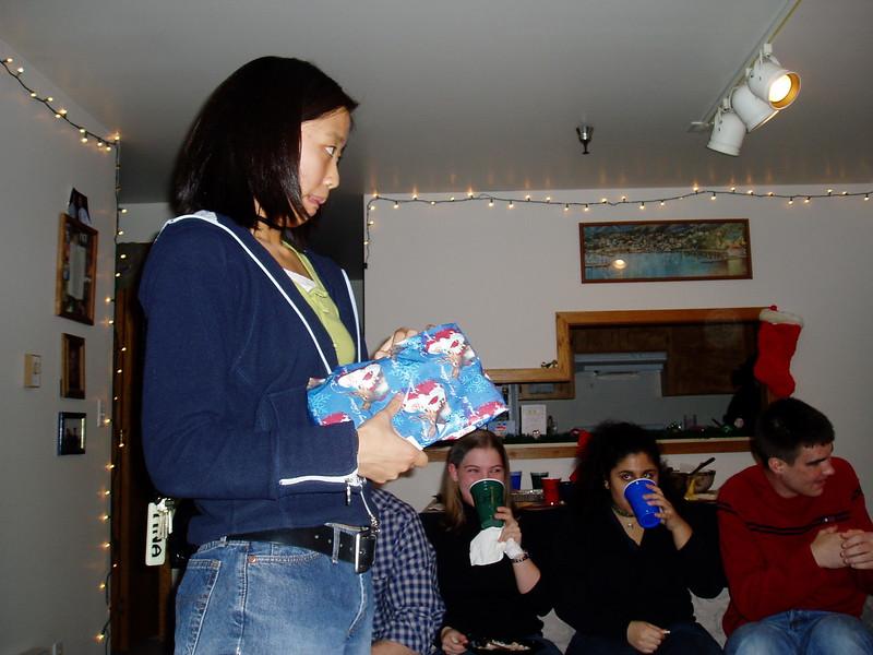 Tina is #1 (gift opener).JPG