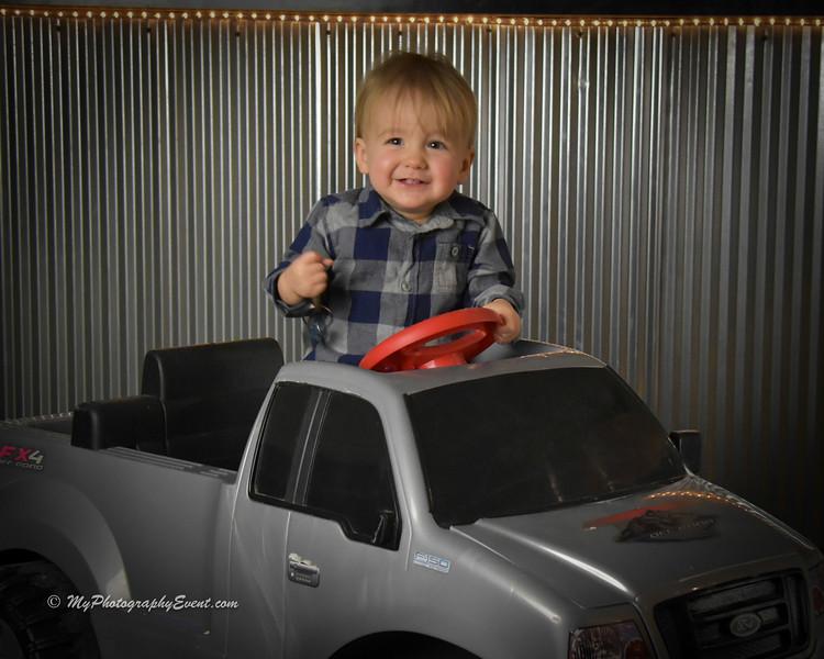 Children's Photos in a truck